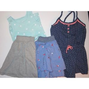 Girl Clothes Bundle Lot Romper Skirt Tank Top Gap